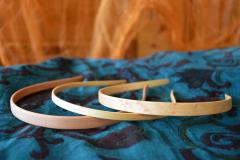 Helle-Holz-Haarreifen